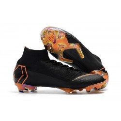 New 2018 Nike Mercurial Superfly VI Elite FG Soccer Cleats - Black Orange