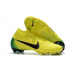 New 2018 Nike Mercurial Superfly VI Elite FG Soccer Cleats - Yellow Black