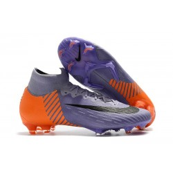 New 2018 Nike Mercurial Superfly VI Elite FG Soccer Cleats - Purple Orange