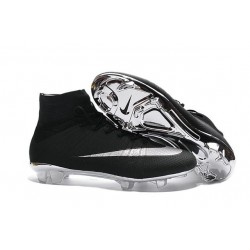 News 2016 Nike Mercurial Superfly FG ACC Cleats Black Silver