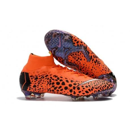Nike Mercurial Superfly 6 Elite FG Football Boots - Safari Orange Black