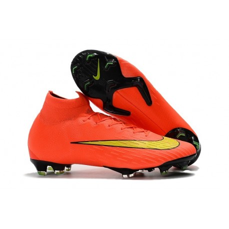 Nike Mercurial Superfly 6 Elite FG Football Boots - Orange Yellow