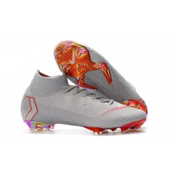 Nike Mercurial Superfly 6 Elite FG Football Boots - Grey Crimson