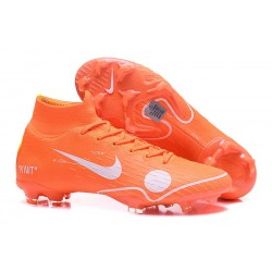 Nike & Off-white Mercurial Superfly 6 Elite FG Football Boots - Orange