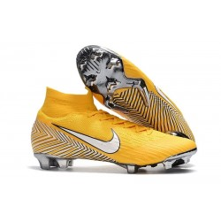 Neymar Nike Mercurial Superfly 6 Elite FG Football Boots - Yellow White
