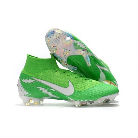 Nike Mercurial Superfly VI 360 Elite FG Cleat - Green Silver
