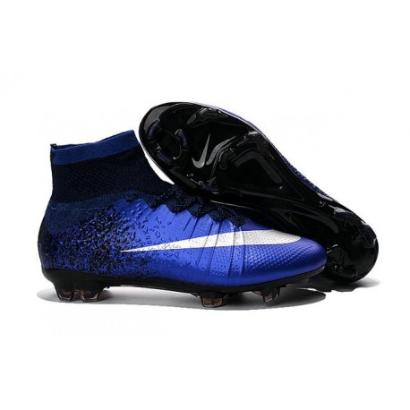 Nike 2016 Mercurial Superfly FG ACC Soccer Boot Royal Blue Silver