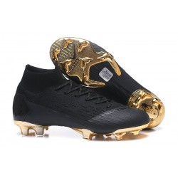 Nike Mercurial Superfly VI 360 Elite FG Cleat - Black Gold