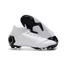 Nike Mercurial Superfly VI 360 Elite FG Cleat - White Black