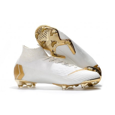 Nike Mercurial Superfly VI 360 Elite FG Cleat - White Gold