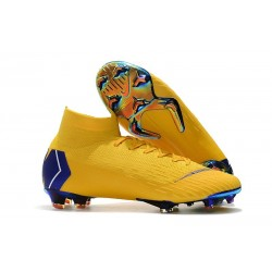 Nike Mercurial Superfly VI 360 Elite FG Cleat - Yellow Blue