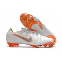 Nike Mercurial Vapor XII FG Football Boots - White Grey Orange