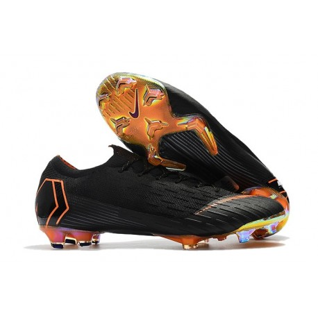 Nike Mercurial Vapor XII FG Football Boots - Black Orange