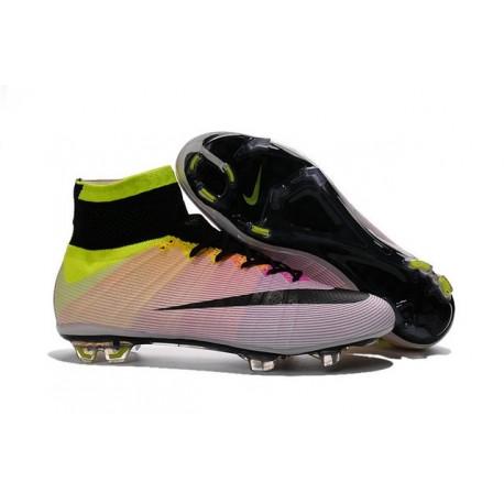 Nike 2016 Mercurial Superfly FG ACC Soccer Boot White Orange Black