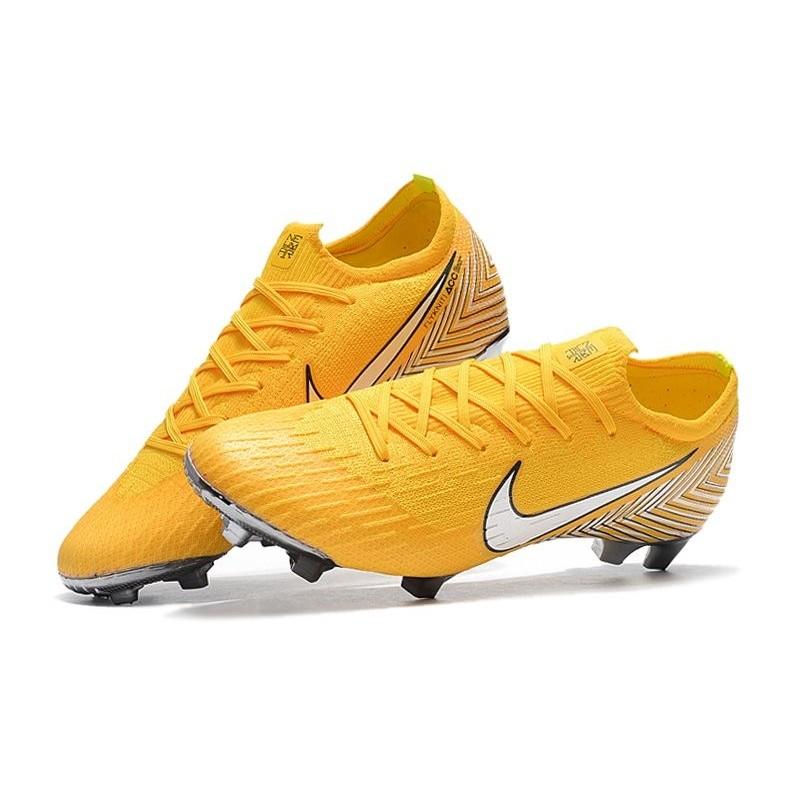 sports shoes 99c56 b1fd5 Neymar Nike Mercurial Vapor XII FG Football Boots - Yellow White