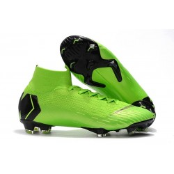Nike Mercurial Superfly 6 Elite FG Firm Ground Boots - Green Black