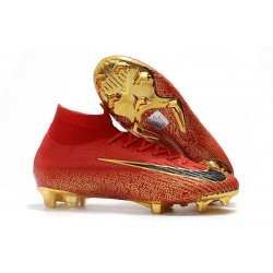 Nike Mercurial Superfly 6 Elite FG Firm Ground Boots - Red Golden Black