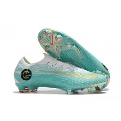 Nike Mercurial Vapor XII FG Football Boots - White Blue Gold