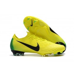 Nike Mercurial Vapor XII 360 Elite FG Mens Cleat - Volt Black