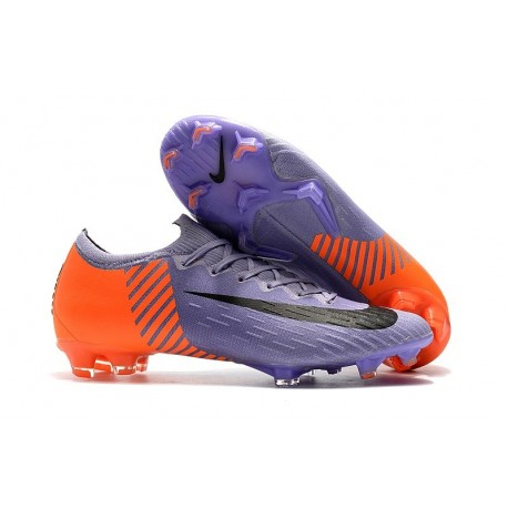 Nike Mercurial Vapor XII FG Football Boots - Purple Orange Black