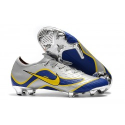 Nike Mercurial Vapor XII 360 Elite FG Mens Cleat - Silver Blue Yellow