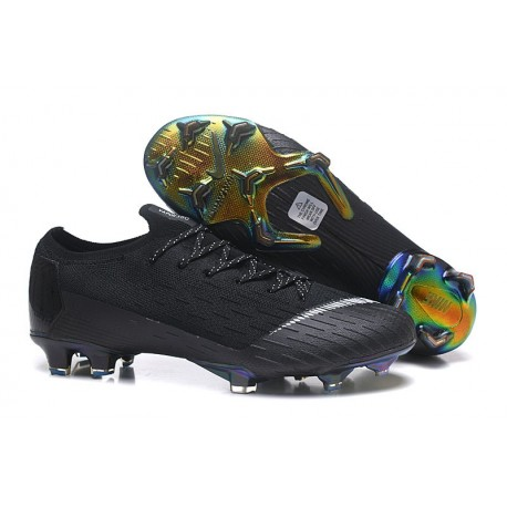 Nike Mercurial Vapor XII 360 Elite FG Mens Cleat - Black White