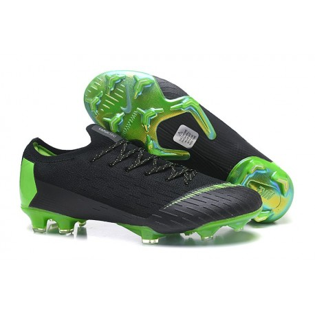 Nike Mercurial Vapor XII 360 Elite FG Mens Cleat - Black Green