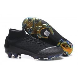 Nike Mercurial Superfly 6 Elite FG Firm Ground Boots - Black White