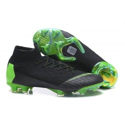 Nike Mercurial Superfly 6 Elite FG Firm Ground Boots - Black Green
