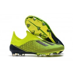 adidas X 18+ FG Mens Football Boots - Electricity Green Black