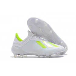 adidas X 18.1 FG New Soccer Cleats - White Yellow