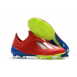 adidas X 18.1 FG New Soccer Cleats - Red Silver