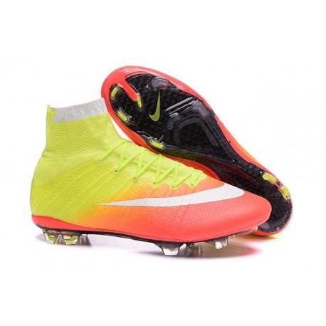 Nike 2016 Mercurial Superfly FG ACC Soccer Boot Orange Yellow White