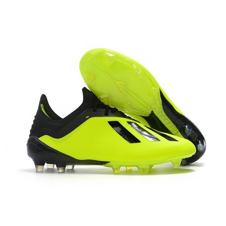 adidas X 18.1 FG New Soccer Cleats - Yellow Black