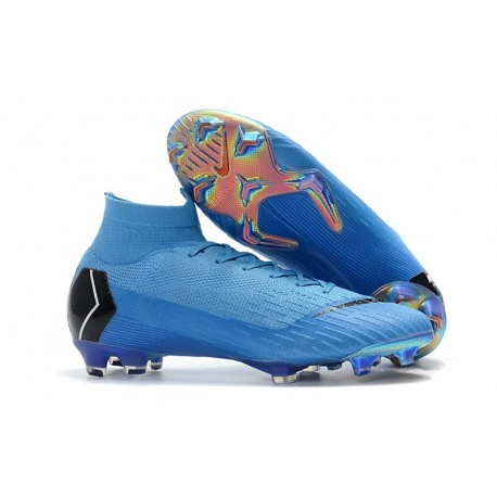Nike Mercurial Superfly 6 Elite FG Firm Ground Boots - Blue Black