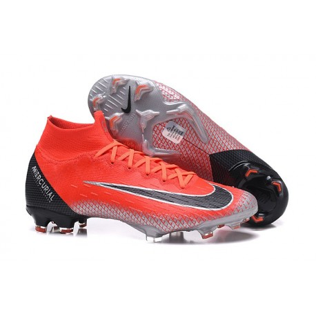 Ronaldo Nike Mercurial Superfly VI 360 Elite FG Cleats - Red Black