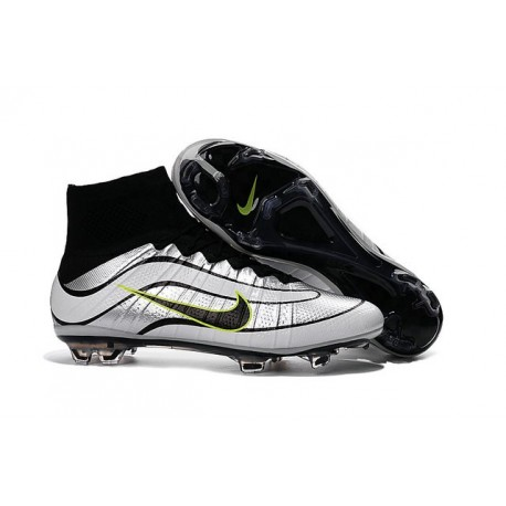 Nike 2016 Mercurial Superfly Heritage FG Cleats White Black Green