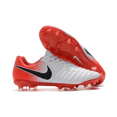 Todo tipo de retroceder Cenar  Nike Tiempo Legend VII Elite FG Mens Cleats - White Red Black