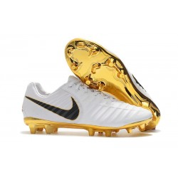 Nike Tiempo Legend 7 Elite FG Firm Ground New Boots - White Gold Black