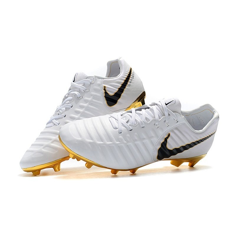 new product 081d4 4d76c Nike Tiempo Legend 7 Elite FG Firm Ground New Boots - White Gold Black