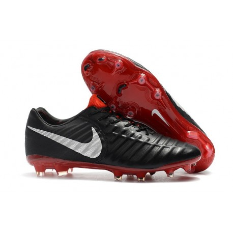 Nike Tiempo Legend 7 Elite FG Firm Ground New Boots - Black Red Silver