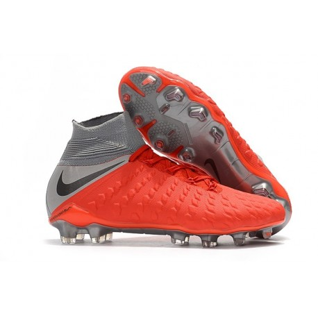 plus récent 5dee4 501a8 New Nike Hypervenom Phantom 3 DF FG - Red Gray