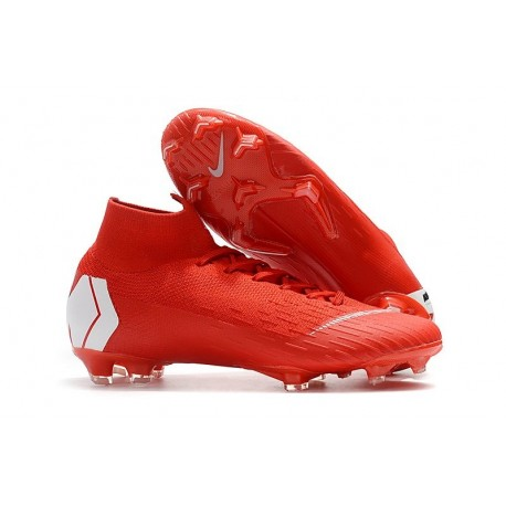 Nike Mercurial Superfly VI 360 Elite FG Cleats - Red White