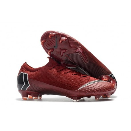 Nike Mercurial Vapor 12 Elite FG News Soccer Boots - Red Black