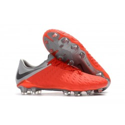 Nike Hypervenom Phantom III FG Soccer Cleats - Red Black
