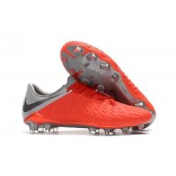 Nike Hypervenom Phantom III FG Soccer Cleats - Red Black