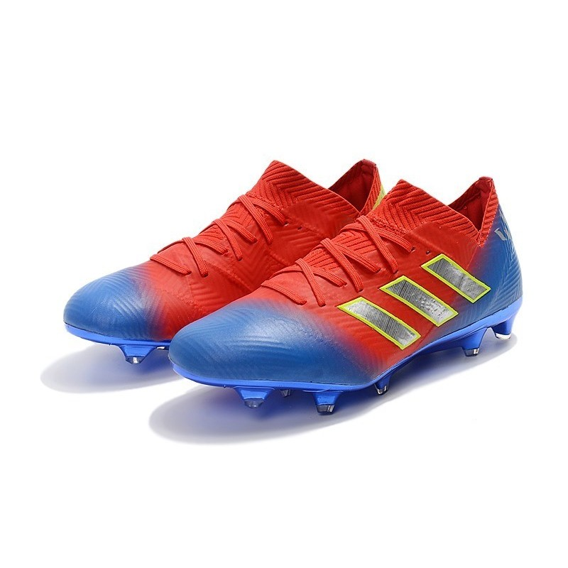 52193f25d adidas Nemeziz Messi 18.1 FG Soccer Cleats - Red Blue Silver