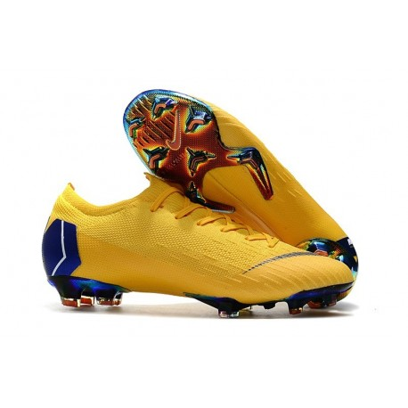 Nike Mercurial Vapor 12 Elite FG News Soccer Boots - Yellow Blue