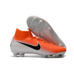 Nike Mercurial Superfly VI 360 Elite FG Cleats - Orange White