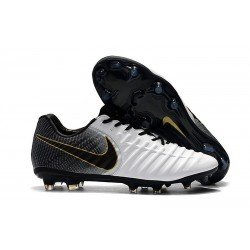 Nike Tiempo Legend 7 Elite FG Firm Ground New Boots - White Black